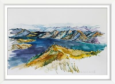originale zeichnung A3 84SE aquarell drawing kunst art new zealand
