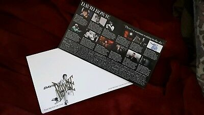 David Bowie Royal Mail First Day Cover Envelope and FDC Card Mint Cond Starman