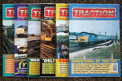 Job Lot of 6 TRACTION magazines - January-June 2000 - issues nos. 63-68