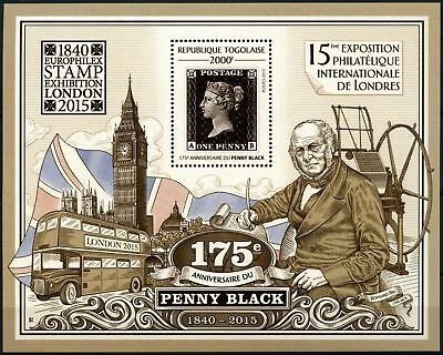 Togo 2015 Penny Black Anniv, London Stamps Exhibition MNH M/S #D76127