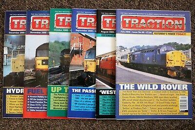 Job Lot of 6 TRACTION magazines - July-December 2000 - issues nos. 69-74