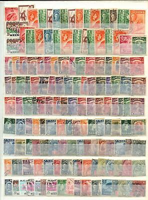 Sarawak Stockpage Full Of Stamps #B4575