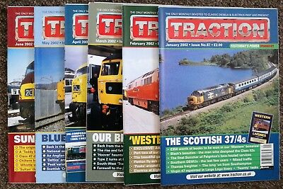 Job Lot of 6 TRACTION magazines - January to June 2002 - issues nos. 87-92
