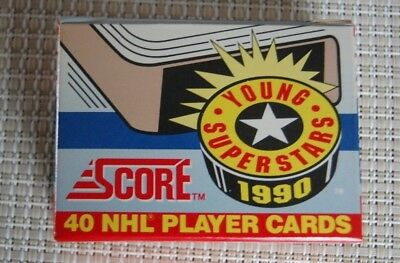 1990 Score NHL Hockey Young Super Stars 40 Card Set Excellent