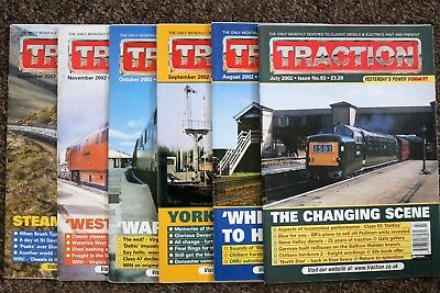 Job Lot of 6 TRACTION magazines - July to December 2002 - issues nos. 93-98