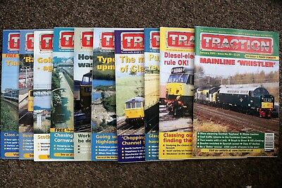 Job Lot of 10 TRACTION magazines - Jan/March-Nov 2003 - issues nos. 99/101-109