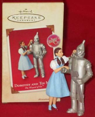 2003 Hallmark Dorothy and Tin Man The Wizard of Oz (NEW)