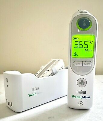 Welch Allyn Pro6000 Thermoscan Ear Exactemp Thermometer + New Probe Covers