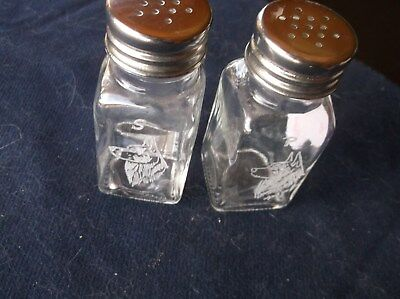 Norwegian Elkhound- Hand Engraved Salt and Pepper Shakers by Ingrid Jonsson