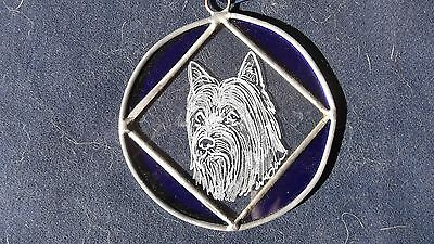 Silky Terrier  Beautifully  Hand engraved ornament   by Ingrid Jonsson
