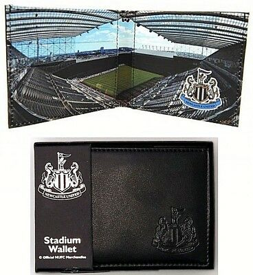 Newcastle United Fc Real Leather Football Sports Money Stadium Wallet Purse Gift