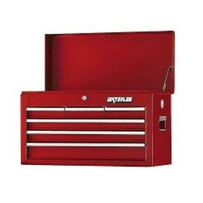 Waterloo Series 6-Drawer Chest in Red WATWCH-266RD Brand New!