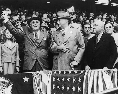 32nd US President FRANKLIN ROOSEVELT Glossy 8x10 Photo 1st Pitch Poster Senators