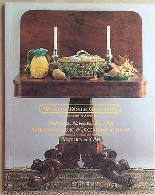 William Doyle Auction Catalog American Furniture Decorations Paintings Majolica