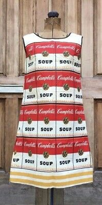 Vintage Original Andy Warhol Campbells Souper Dress 1960s Paper Dress With Tag
