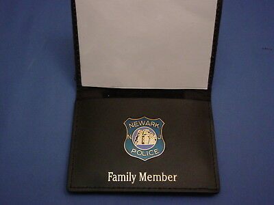 NPD-NEWARK NJ POLICE FOP PBA LEATHER WALLET W/ MINI BADGE small-FOP-PBA