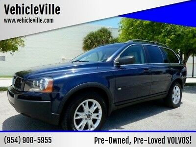 XC90 2.5T 4dr Turbo SUV 2004 VOLVO XC90 3RD ROW 5 CYL - 1 OWNER - VERY NICE CONDITION! LEATHER! SUNROOF!