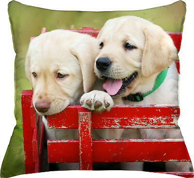 "Photo Real Lab Puppies Throw Pillow - 18""x18"""
