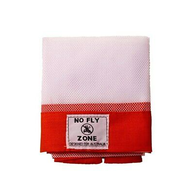 D.Line No Fly Zone Table Food Cover Throw Over Red 98cm Square