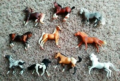 Toy Vintage Mini Breyer Reeves Horses ALL Dated 1999 Lot 10 includes 1 cow GREAT