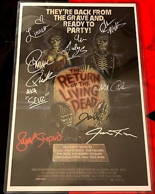 The Return of the Living Dead Poster signed by Clu Gulager, Don Calfa & MORE