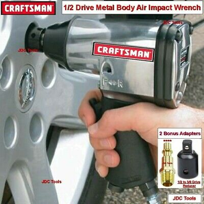 Craftsman 3/8 Drive Air Impact Wrench w 20 pc Impact Accessory Set  NEW  1/2