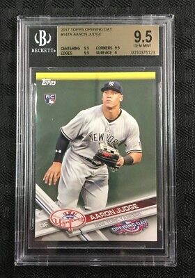 Aaron Judge 2017 Topps Opening Day #147A Rookie Logo Bgs Gem Mint 9.5 Yankees