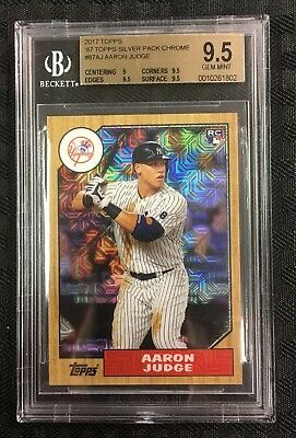 Aaron Judge 2017 Topps '87 Topps Silver Pack Chrome  Bgs Gem Mint 9.5 Yankees