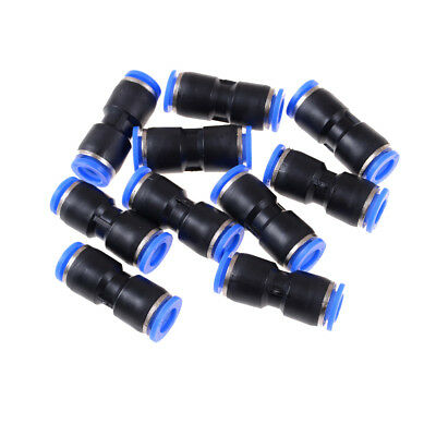 10 PCS 10mm Pneumatic Air Quick Push to Connect Fitting Straight Tube UK.