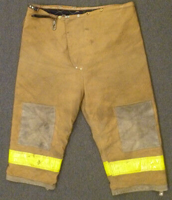 50x27 Pants Firefighter Turnout Bunker Fire Gear w Liner Janesville Lion P914