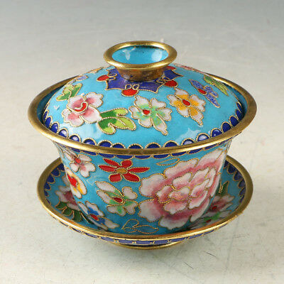 Chinese Cloisonne Handmade Flower  Cup GL1020