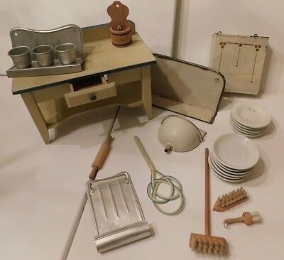 Vintage Doll Kitchen Accessories