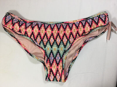 NWT Victorias Secret Swim Bikini Bottom Large Warm Ikat Foil N2976