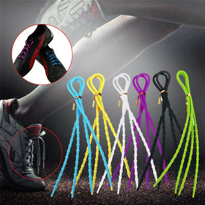 Lazy Elastic Shoelaces Silicone Shoelace Easy Shoe Laces No Tie Free Tying 1Pair