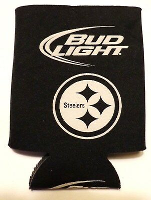 Vintage Bud Light Beer - Pittsburgh Steelers Bottle Coozy - Coozie - Koozie..NEW