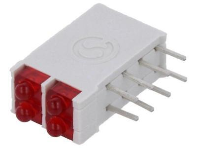 DBI02300 LED in housing red 1.8mm No.of diodes4 10mA 38° 2V 25mcd