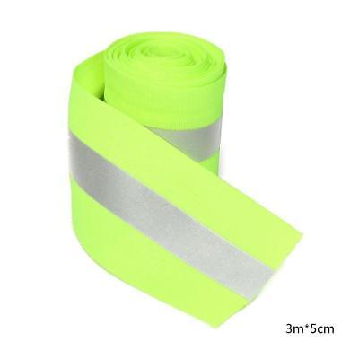 5cm 3 Meters Fluorescent Ribbon Clothing Safety Reflective Traffic Warning Tape