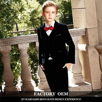 Boys Fancy Dress Black Tuxedo Suit James Bond Prom Cruise Age 10 to14 Years New