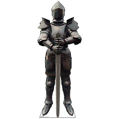 KNIGHT IN ARMOR Lifesize CARDBOARD CUTOUT Standup Standee Poster Medieval Hero