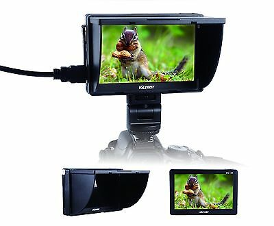 Viltrox 5''DC-50 Clip-on Color TFT LCD Monitor AV Input f cameras with HDMI port