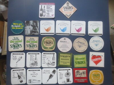 26 different ANGOVE,S Wines,/St.AGNES BRANDY Issued  Advertising COASTERS