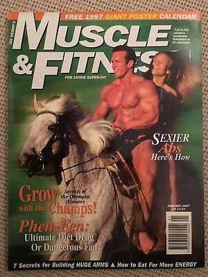 11 x Muscle & Fitness Magazines (1997) - Arnold Schwarzenegger - All mint
