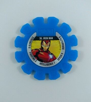 Woolworths MARVEL HEROES Super Discs #36 IRON MAN