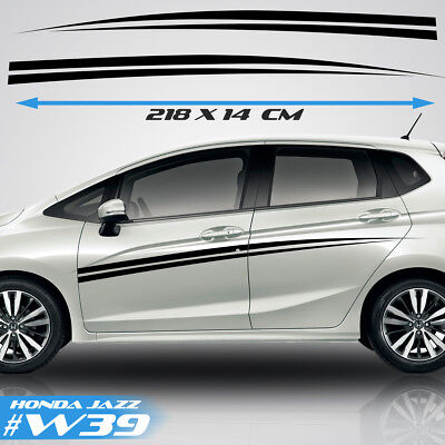 Honda Jazz Sports Side Racing Stripes Car Decals Graphics Rally