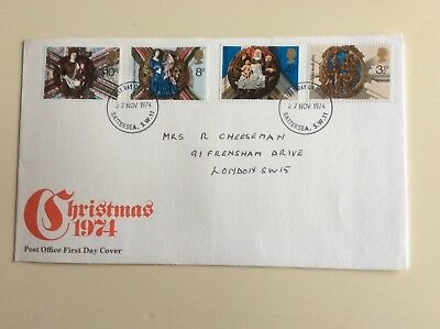 """Post Office First Day Cover """"Christmas 1974"""""""
