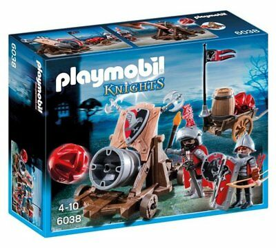 Playmobil 6038 Newly Hawk Knights Battle Cannon Large Firing Cannon And Comes_UK