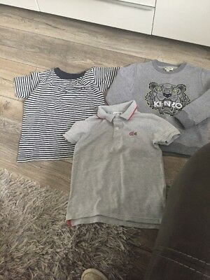 Boys Designer Bundle Kenzo Lacoste And Fred Perry Age 5-6