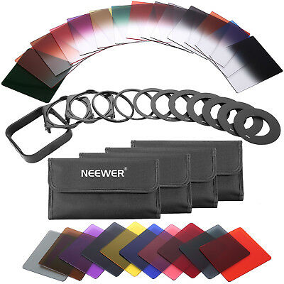 Neewer 40-in-1 Square Graduated Full Color ND Filter Kit with Adapter Ring