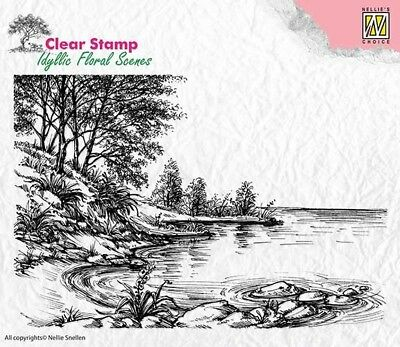 Motiv-stempel Clear stamp Waters edge Landschaft See Bäume Nellie Snellen IFS006