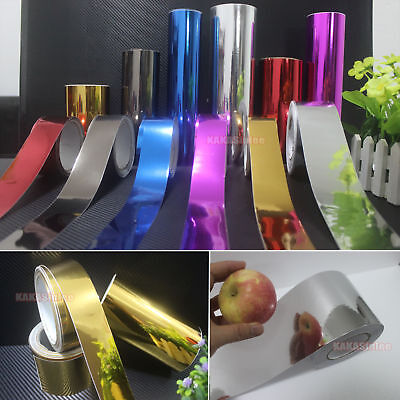 Useful Glossy Mirror Chrome Vinyl Wrap Tape Sticker for Car Phone Home Beauty AB